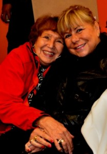 June Laiter, advocate for Urban Aboriginal Housing at the opening with Linda.